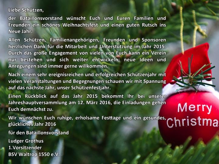 Weihnachtsgrüße Für Gäste.Weihnachtsgrüße Bürger Schützenverein Waltrop